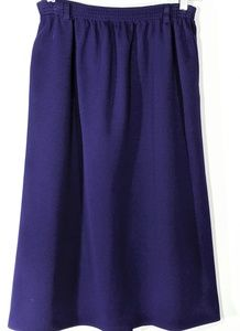 ALFRED DUNNER Purple Knit Skirt Size 10
